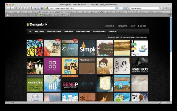 Screenshot of a Sample Design Gallery - Source: www.addesignlink.com