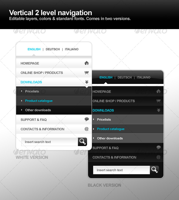Example for Vertical Navigation from www.graphicblog.net
