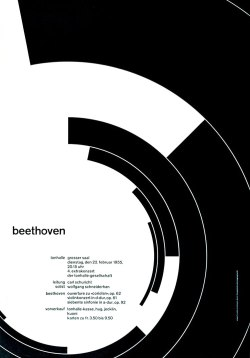 Swiss International Style - Joseph Müller-Brockmann - Beethoven - found at www.designhistory.com