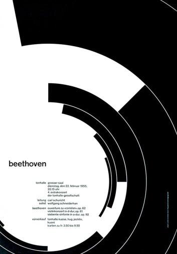 Swiss International Style - Joseph Müller-Brockmann - Beethoven - found at www.designhistory.com
