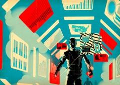 Illustration: Tavis Coburn - Illustration for for an article predicting trends in Apple's mobile strategy. Found on: TavisCoburn.com
