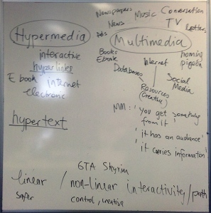 Class 1 - Looking at Hypermedia and Multimedia