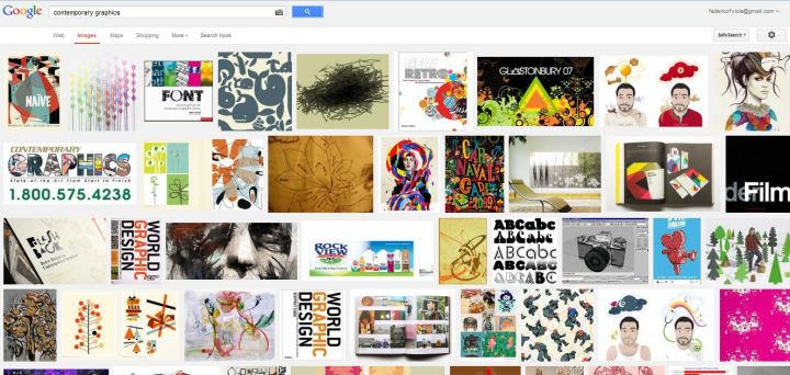 Google Search for Contemporary Graphics