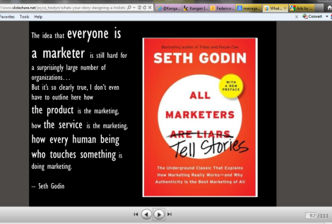 Screenshot - 82 Everyone is a Marketer by Seth Godin from What's Your Story by Joyce Hostyn