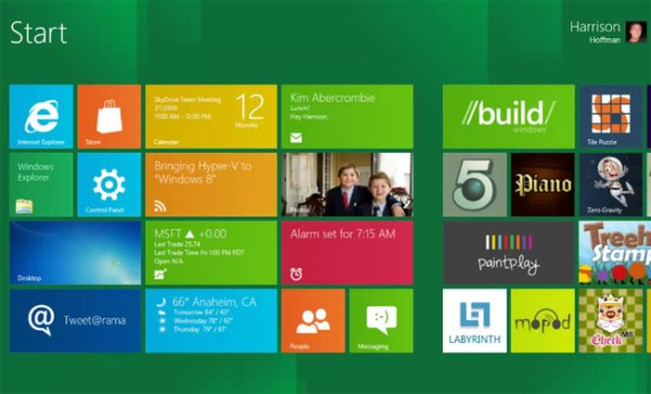 Windows 8 Metro Interface - Courtesy of www.geeky-gadgets.com