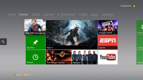 Xbox 360 GUI - Courtesy of www.engadget.com