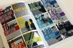 Typographic with Colours and Photos - The use of large numbers is effective and the low opacity of the boxes works, personally, I find it looks a bit dated- found at: JuxtaPost.com