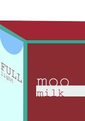 Milk Poster - Swiss International Style Reference - by Annabel Stephen Salip