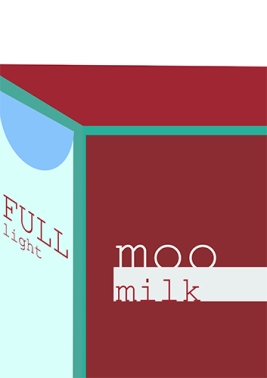 Milk Poster - Swiss International Style Reference - by Annabel Stephen Salip
