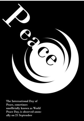 Peace- Swiss International Style Reference - by Maryam Chananeh