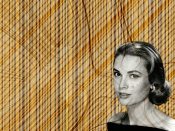 Study - Lines and Grace Kelly - by Federico Viola photo: courtesy of GettingCheeky.com and curved lines wallpaper: courtesy of FreeFever.com
