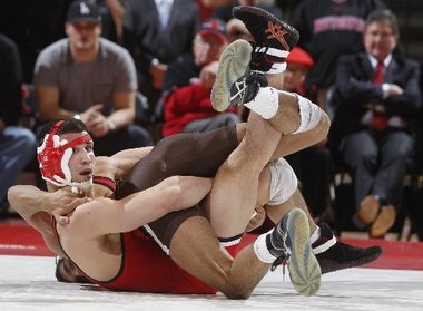Twisted Curves - Two Wrestlers, Scott Winston and Brandon Hatchett , image: courtesy of Andrew Mills/The Star-Ledger, found at NJ.com True Jersey