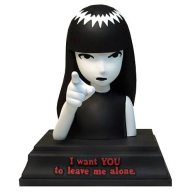 I Want You - Emily Strange, The lovable Emily Strange came to life in 1991, designed by Nathan Carrico for Santa Cruz Skateboards. She is referred to as a counterculture icon. I would just call her a sceptic. Image found at: Kollectable Kaos