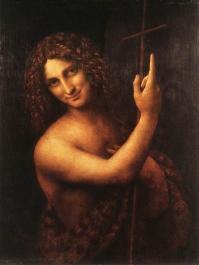 Leonardo's St. John the Baptist, Louvre, Paris, Image: courtesy of A World History of Art - www.all-art.org