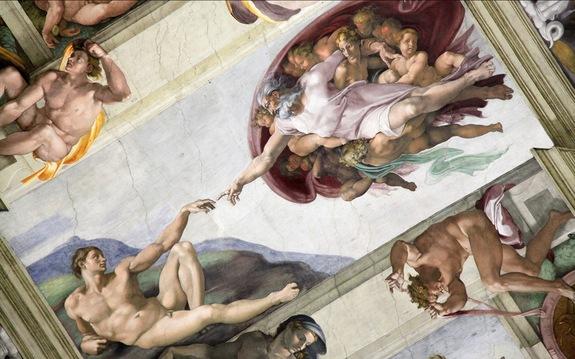 Michelangelo's Creation of Adam, Sistine Chapel, Rome, Courtesy of www.livescience.com